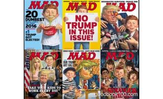 讽刺漫画类杂志_Mad_2017年合集高清PDF杂志电子版百度盘下载 共6本 466MB