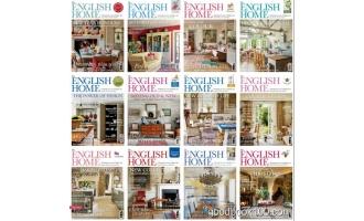 家居设计杂志_The English Home_2018年合集高清PDF杂志电子版百度盘下载 共12本 533MB