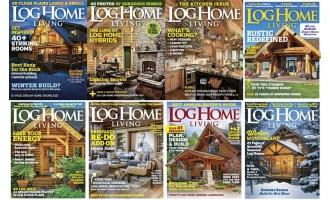 家居设计类杂志Log Home Living_2016年合集高清PDF杂志电子版百度盘下载 共8本